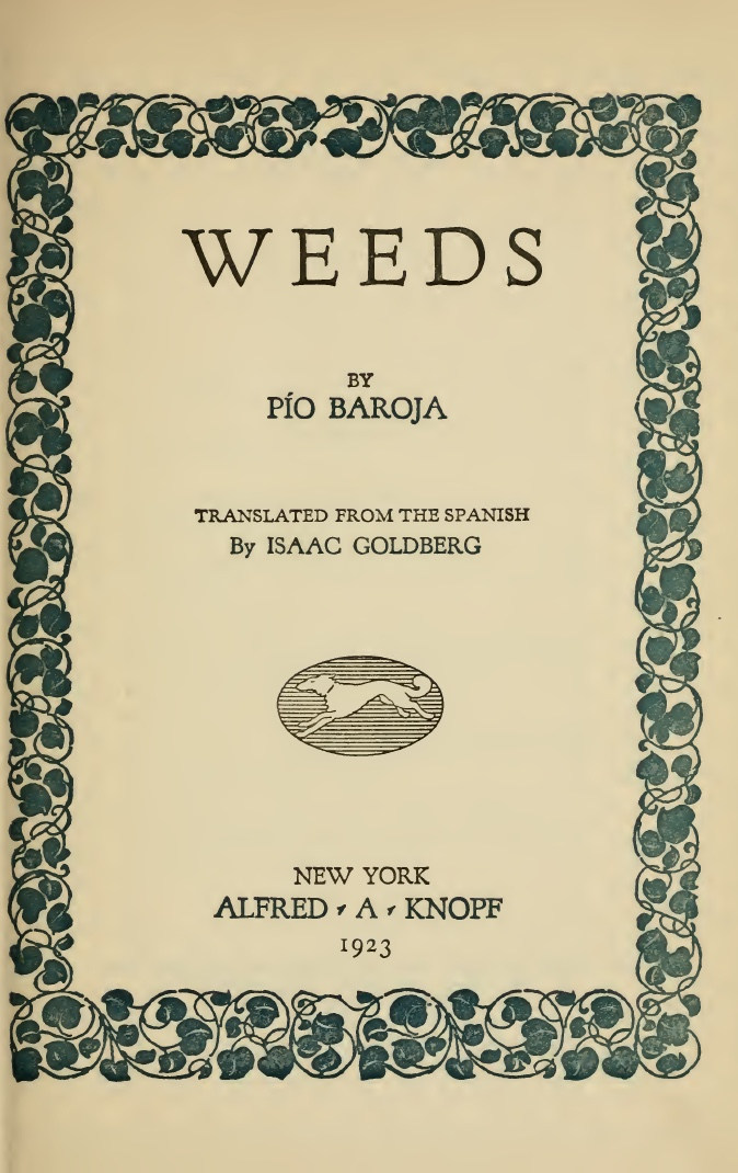 Baroja_The Weeds_1923